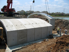 precast concrete bridge installation