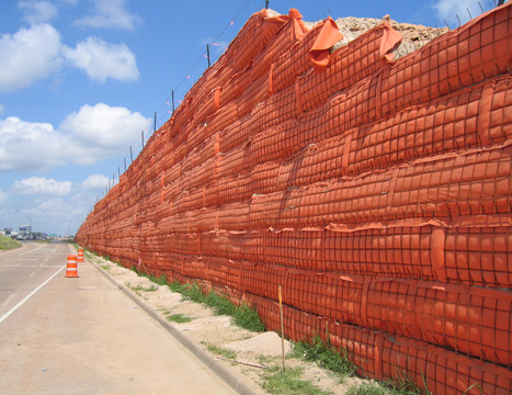 wire wall systems for highway construction